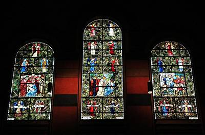 Photograph - Trinity Church Stained Glass 2 by Michael Saunders