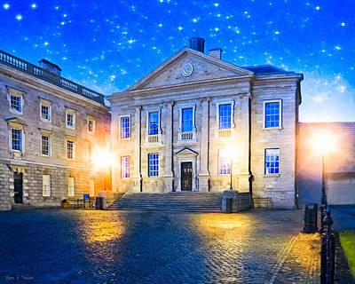 Photograph - Trinity College Dining Hall At Night by Mark E Tisdale