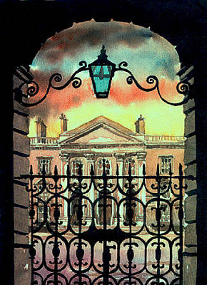 Painting - Dublin  Trinity College  by Val Byrne