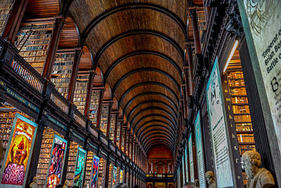 Photograph - Trinity College Library - The Long Room by Marilyn Burton