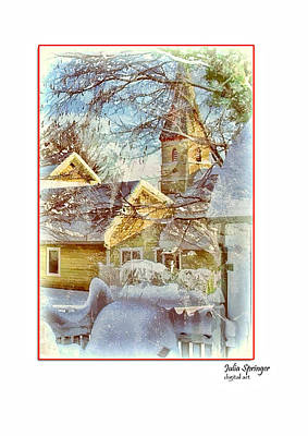 Photograph - Trinity Episcopal Church In The Snow - Shepherdstown  by Julia Springer