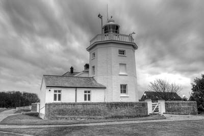 Photograph - Trinity House Lighthouse Bw by David French
