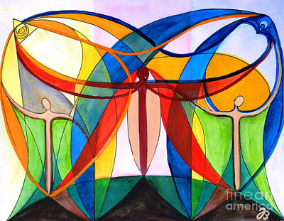Painting - Trinity by Jutta B