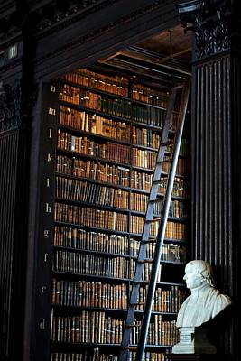 Photograph - Trinity Library Long Room - Section P by Nadalyn Larsen