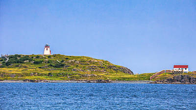 Photograph - Trinity Lighthouse Newfoundland by Perla Copernik
