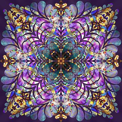 Drawing - Trinity Of Light K1 by Derek Gedney