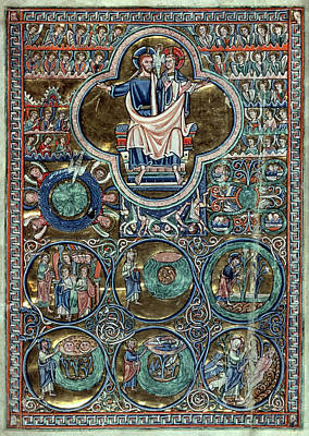 Old Testament Trinity Drawing - Trinity/creation, C1220 by Granger