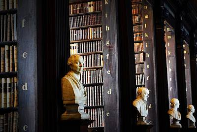 Photograph - Trinty Library Busts by Nadalyn Larsen