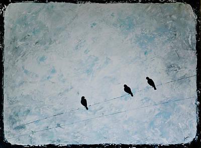 Trio Art Print by Jesska Hoff