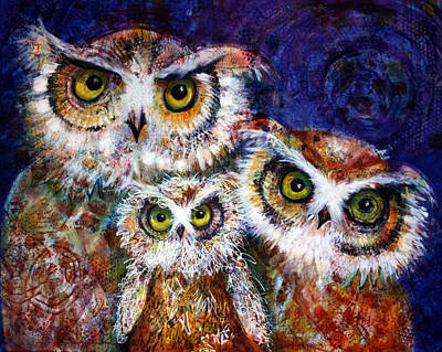 Painting - Trio by Laurel Bahe