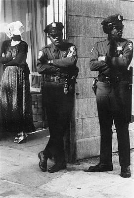 Pasta Al Dente - Trio of arm crossers San Francisco California 1972 by David Lee Guss