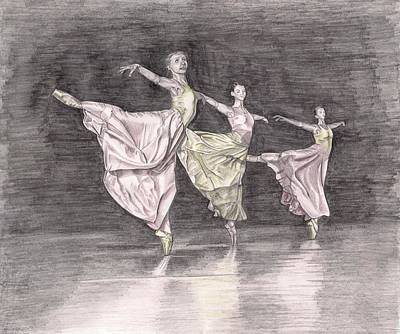 Trio Of Grace Art Print by Beverly Marshall