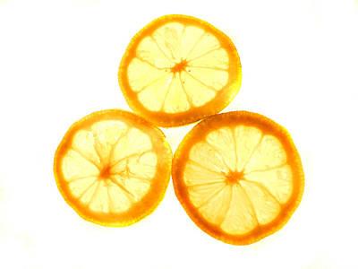 Photograph - Trio Of Lemon Slices by Grace Dillon