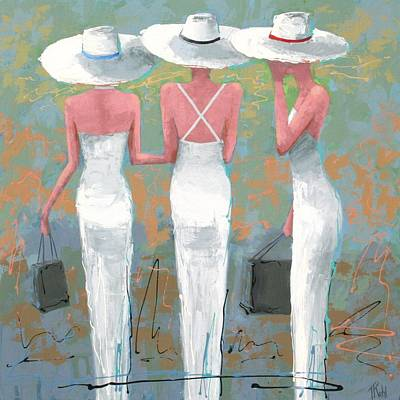 Fashion Painting - Trio by Thalia Kahl