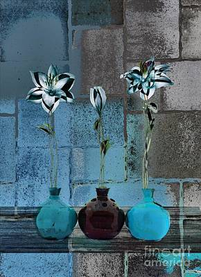 Still Life Digital Art - Triolet Floral V39 by Variance Collections