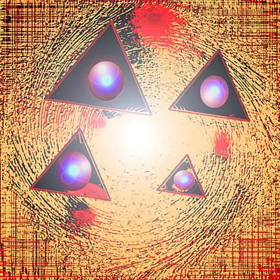Pyramid Digital Art - Triorbs by Dan Sheldon