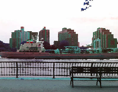 Nyc Mixed Media - Trip Up The East River New York by Max Kutz
