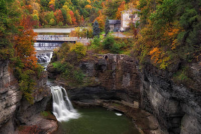 Fall Photograph - Triphammer Falls by Mark Papke