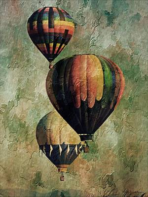 Photograph - Triple Classic Balloons by Michelle Frizzell-Thompson