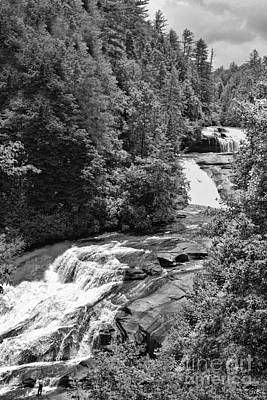 Photograph - Triple Falls In Black And White by Sandra Clark