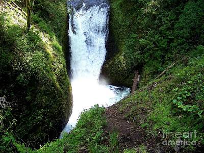 Columbia River Photograph - Middle Oneonta  Falls by Charles Robinson