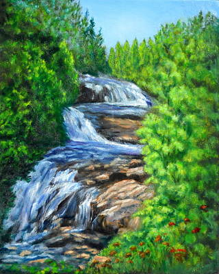 Hunger Games Painting - Triple Falls by Sandy Hemmer