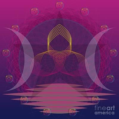 Digital Art - Triple Goddess 2013 by Kathryn Strick