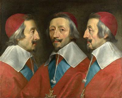 Painting - Triple Portrait Of Cardinal De Richelieu by Philippe de Champaigne