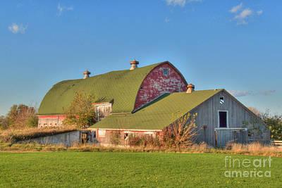 Photograph - Triple Roof Barn by Deborah Smolinske