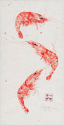 Triple Shrimp Art Print