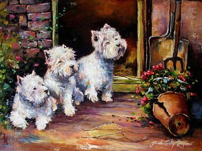 Potting Painting - Triple Trouble by Jacinta Crowley-Long