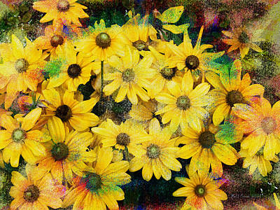 Hippie Photograph - Trippin In The Garden by Bill Cannon