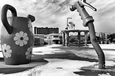 Photograph - Tripping In Asbury Park Mono by John Rizzuto