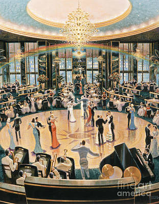 Ballroom Dancing Painting - Tripping The Lights Fantastic by Michael Young