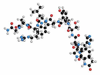 Atomic Image Photograph - Triptorelin Drug Molecule by Molekuul