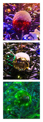 Fantasy Royalty-Free and Rights-Managed Images - Triptych - Traffic Lights Christmas - Featured 2 by Alexander Senin