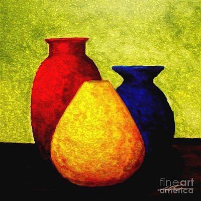 Aztec Pottery Painting - Triquest 1 by Joel Thompson