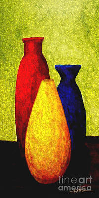 Aztec Pottery Painting - Triquest 2 by Joel Thompson