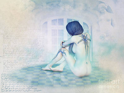 Digital Art - Tristesse In Pastel by Jutta Maria Pusl