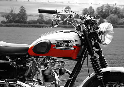 Bonneville Photograph - Triumph 1960 by Mark Rogan