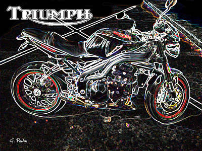 On Trend At The Pool - Triumph Abstract by George Pedro