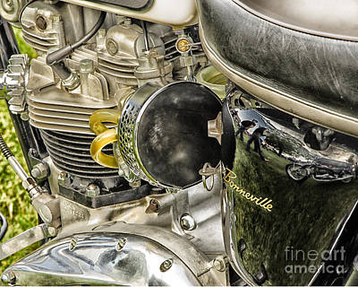 Art Print featuring the photograph Triumph Bonneville by JRP Photography