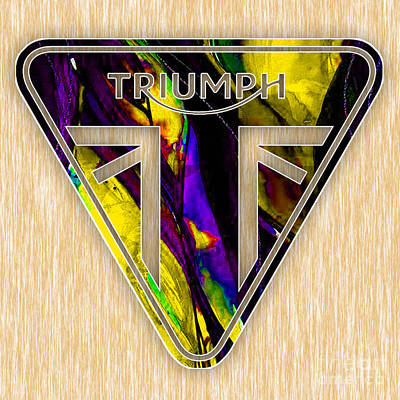 Mixed Media - Triumph Motorcycles by Marvin Blaine