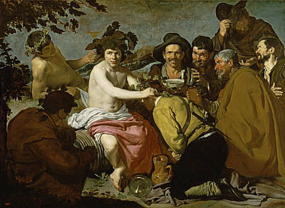 Drunk Photograph - Triumph Of Bacchus, 1628 Oil On Canvas by Diego Rodriguez de Silva y Velazquez