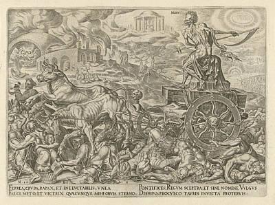 Triumph Of Death, Philips Galle, Hadrianus Junius Art Print by Philips Galle And Hadrianus Junius