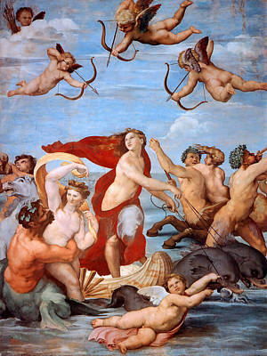 Art Print featuring the painting Triumph Of Galatea  by Raphael
