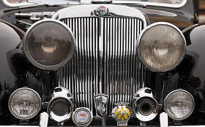 Photograph - Triumph Roadster Front End Color by Scott Campbell