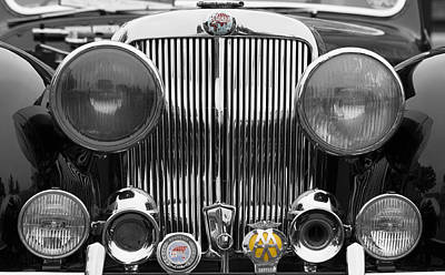Photograph - Triumph Roadster Front End Selective Color by Scott Campbell