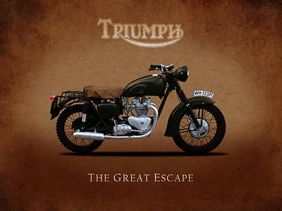 Steve Mcqueen Photograph - Triumph - The Great Escape by Mark Rogan