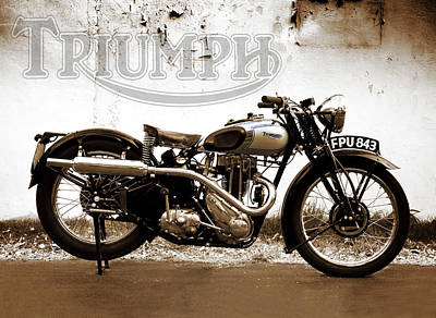 Tigers Photograph - Triumph Tiger 80 - 1937 by Mark Rogan